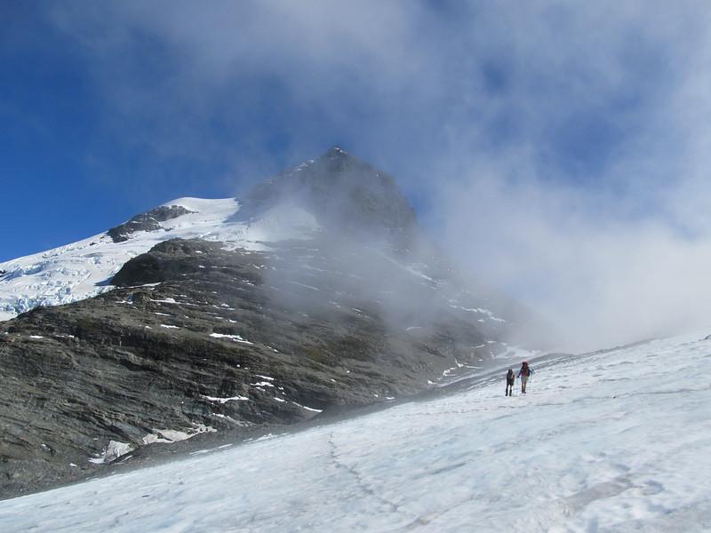 The Birley Glacier and East Peak of Earnslaw.
