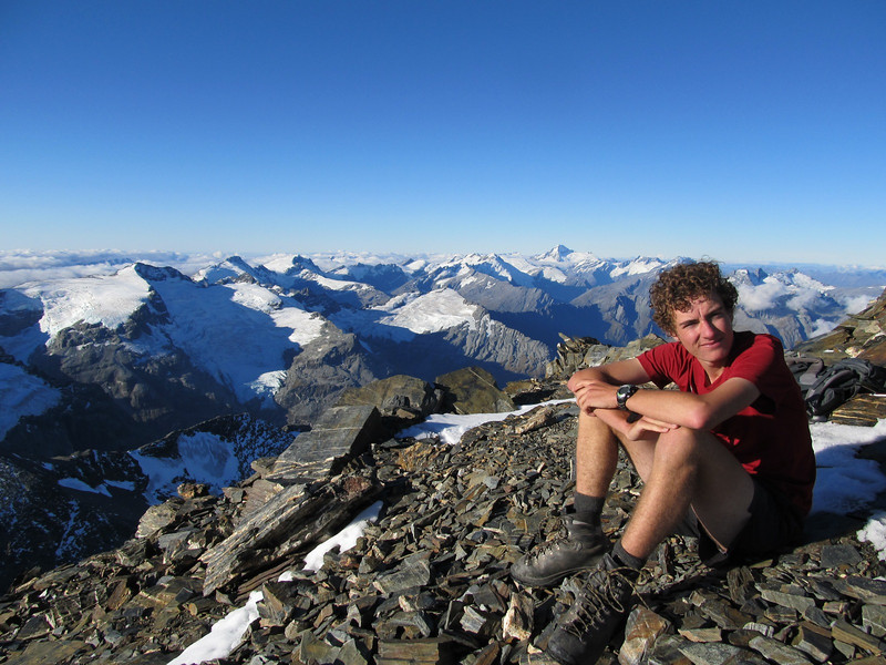 Jaz on the summit of Earnslaw.