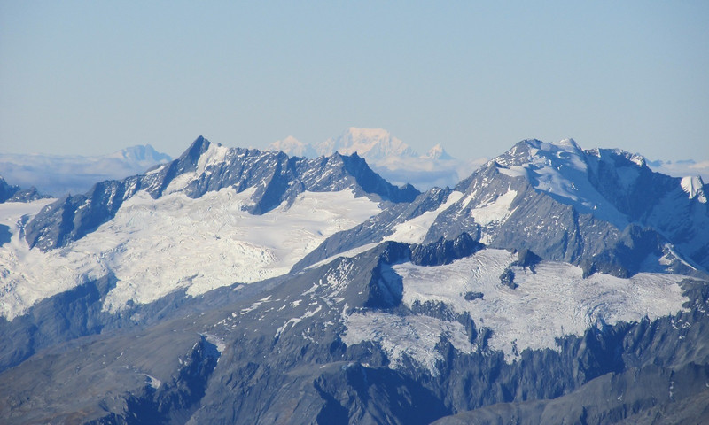 Mt Cook and Sefton in the distance behind Mt Avalanche.