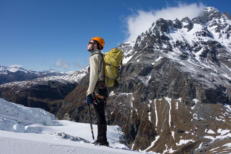 James on the Jura Glacier.