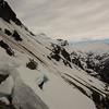 Crossing dodgy snow slopes on the way to Kea Basin.