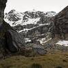 Our campsite in the West Hunter, Jura Glacier above.