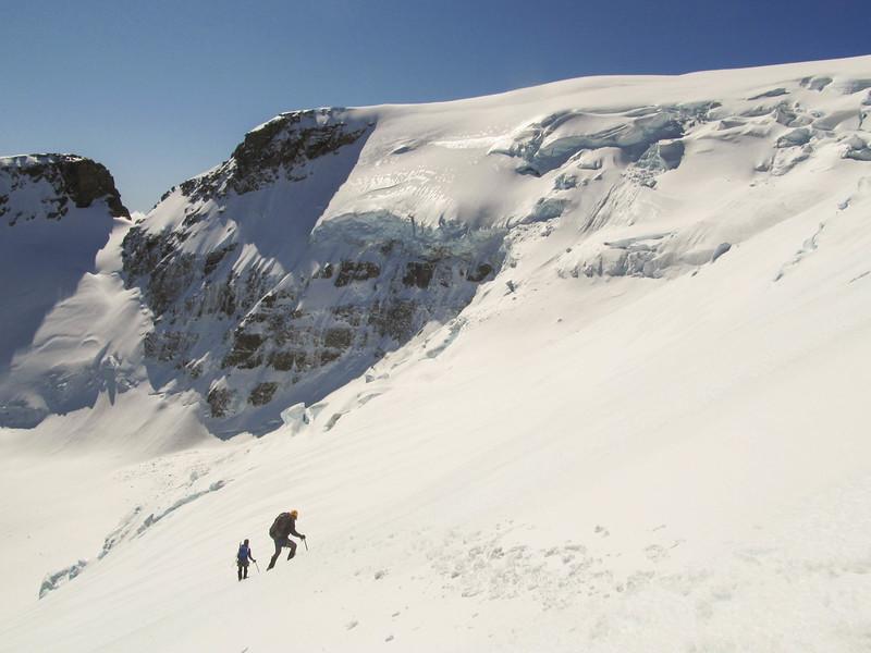 Back on the Jura Glacier (photo - James Thornton).