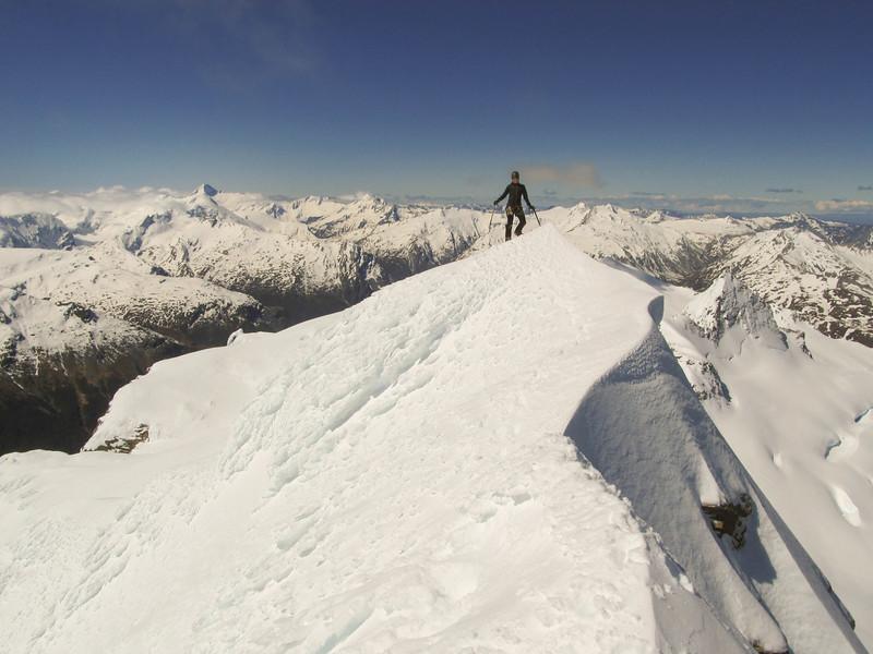 Me on the summit of Mt Head (photo - James Thornton).
