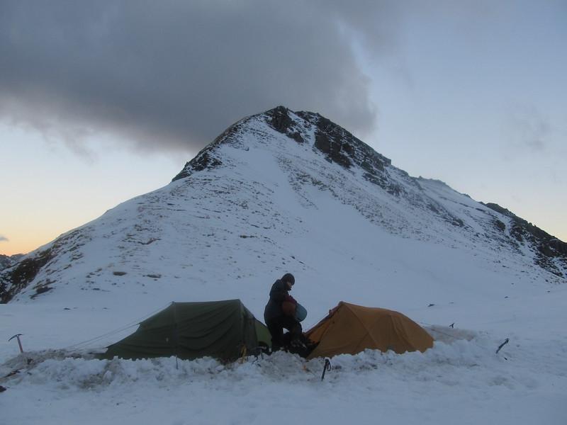 The camp below Mt. Sisyphus.