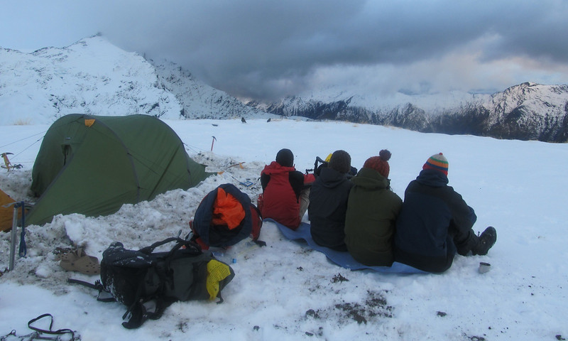 Enjoying the views from the camp on Wilmot Saddle.