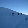 Desending the Bonar Glacier.
