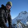Jaz with Coxcomb Ridge leadint up to Aspiring.