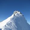 Danilo climbing up the summit ridge.