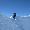 Danilo on the summit ridge of Pope's Nose.