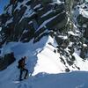 Jaz on the summit ridge.
