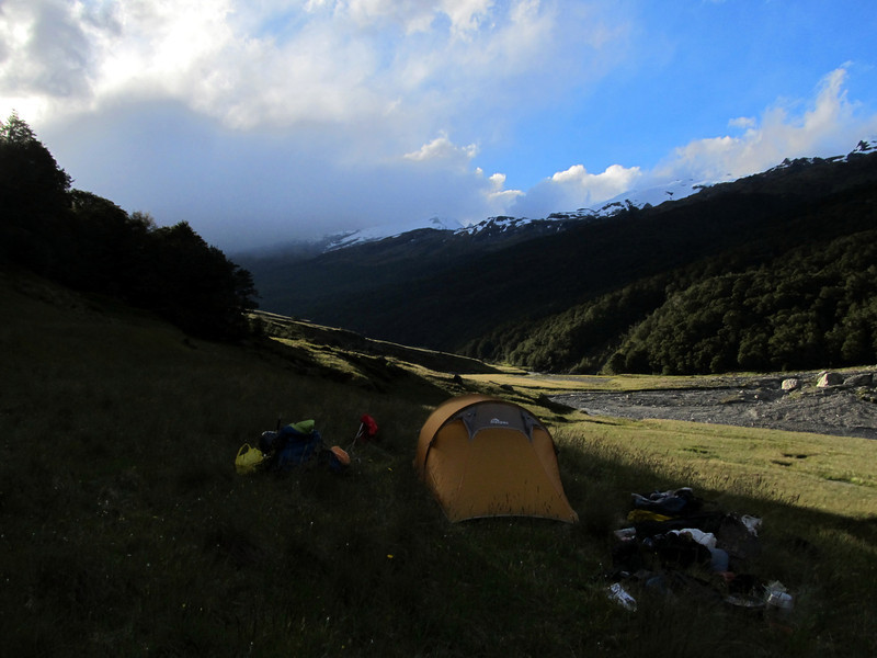 Camp at Cattle Flat.