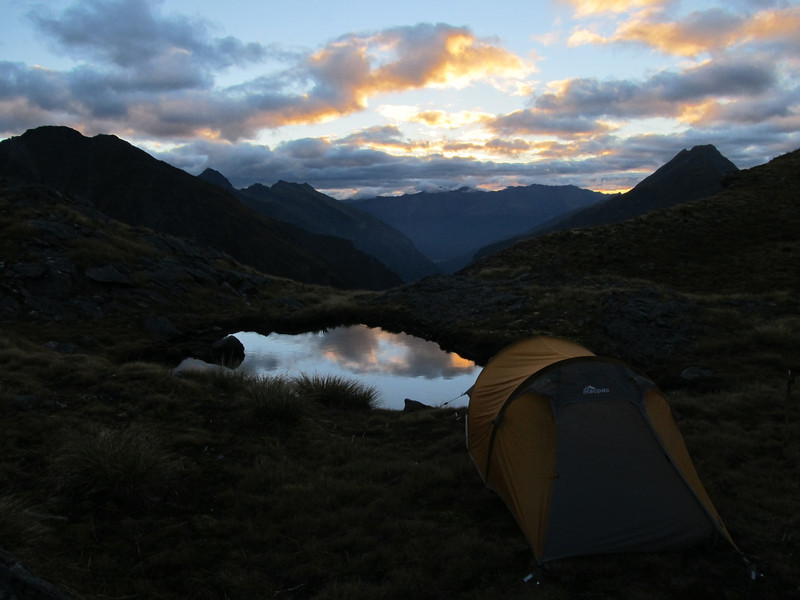 Camp near Gillespie Pass.