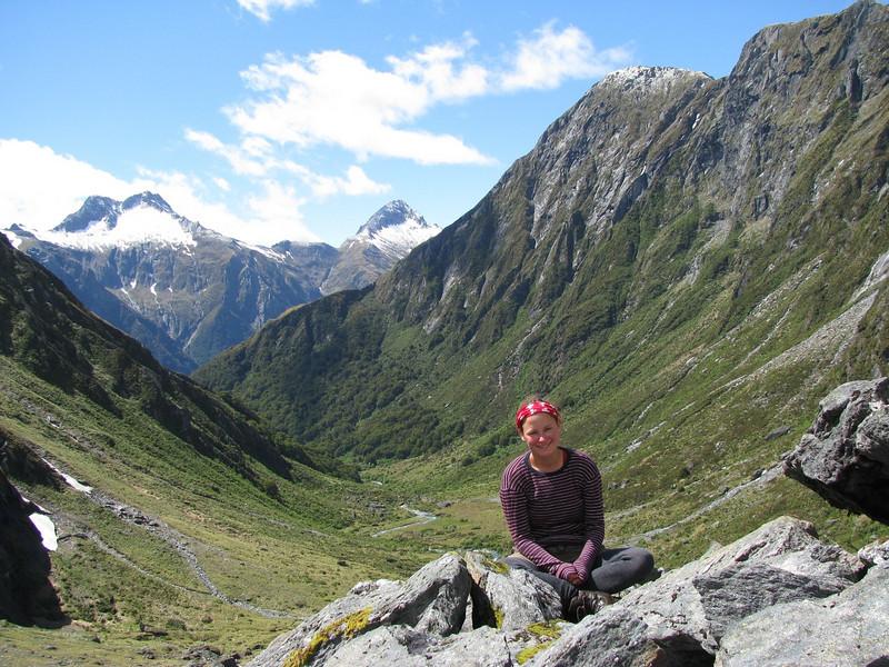 At Lake Crucible looking down to Siberia Valley