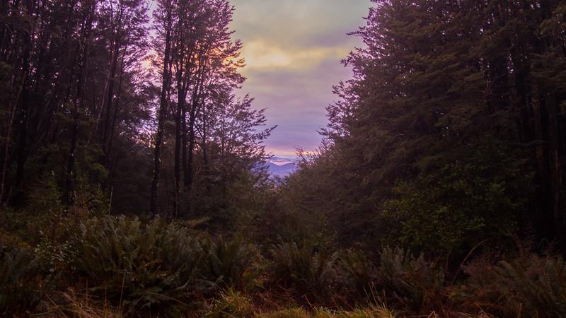 Sunrise at Benmore Hut.