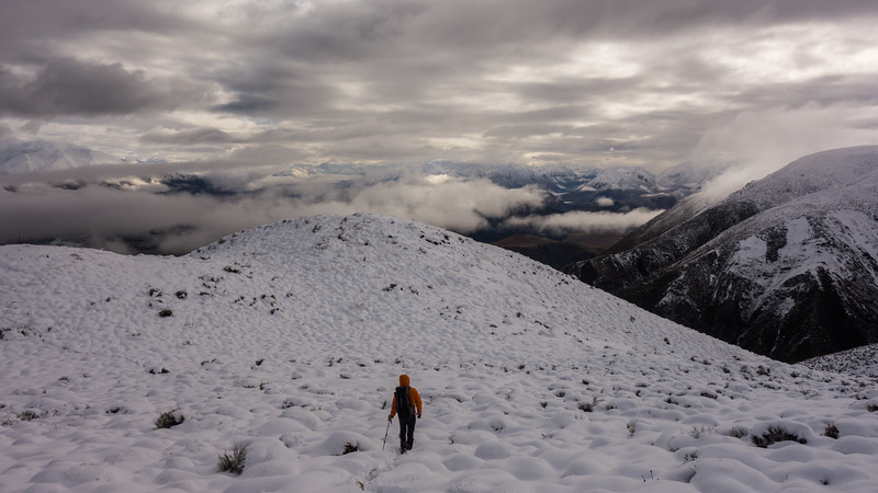Descending back down to clearing weather.