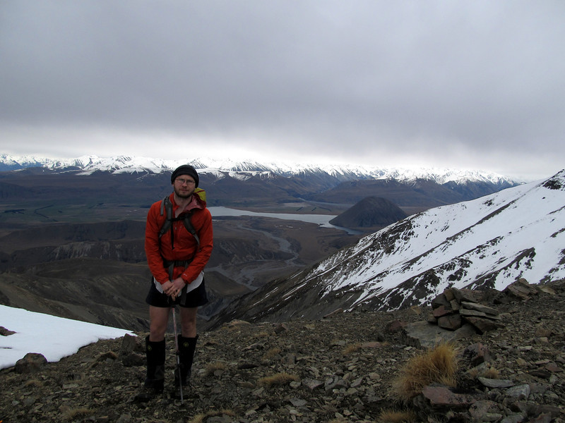 On the lower part of the west ridge of Mt Taylor, Lake Heron below.