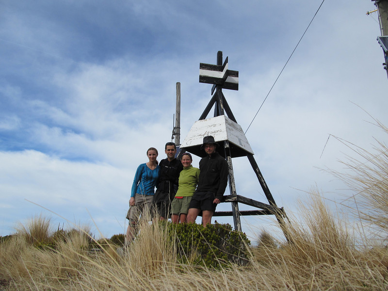 The team on the summit of Mt Thomas.