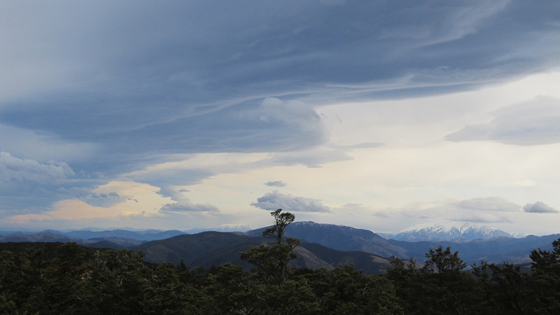 Frontal clouds.