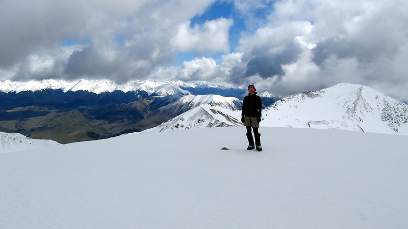 Me on the smmit of Mt Torlesse.