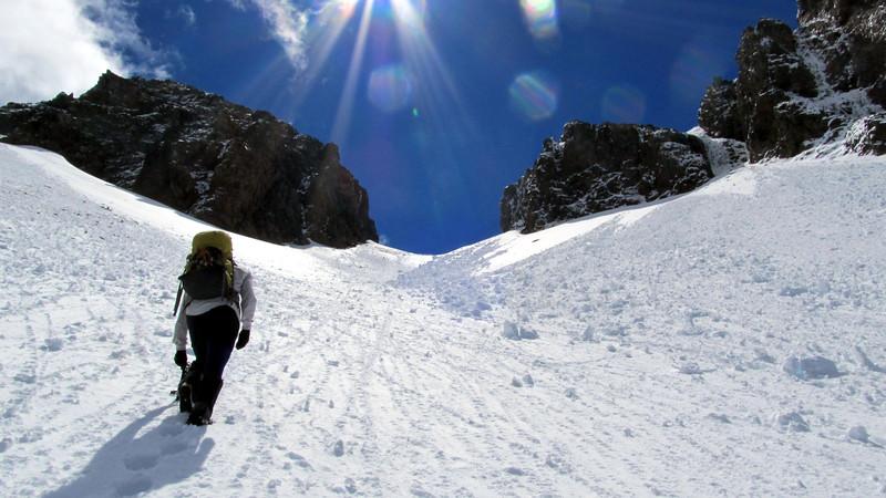 Climbing towards The Gap.