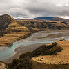 The Waimak snaking its way into the gorge, the Esk River coming in on the right.