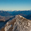 The Arthur's Pass peaks seen from Chest Peak - Murchison on the left to Rolleston on the far right with Mt Davie in the centre.
