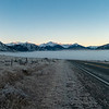 Early and frosty morning on SH73 looking towards the Arthur's Pass peaks.