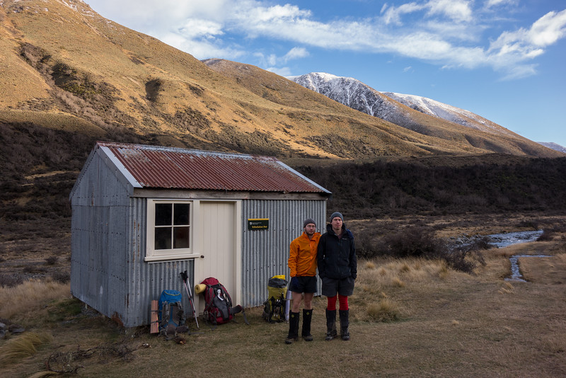 James and Andrew ready to leave Tribulation Hut.