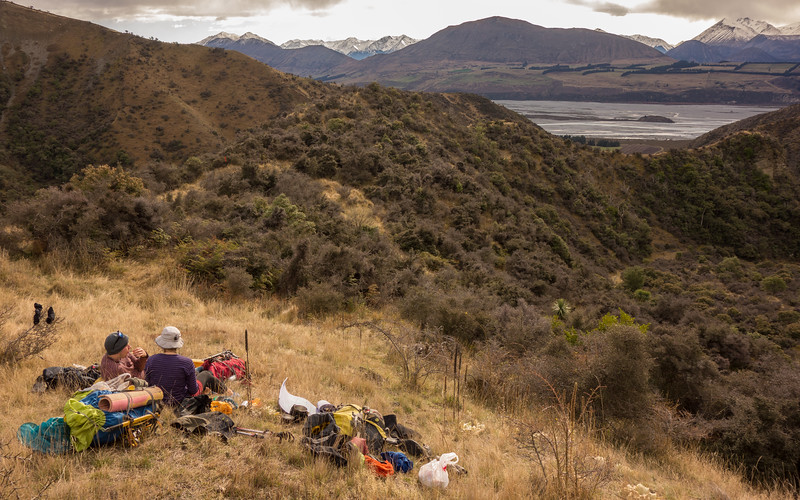 Lunch in Redcliffe Stream above the Rakaia.