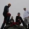 Summit of Cecil Peak -Danilo, Brad, Nina and Marco.
