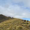 The ridge to point 1670 m.