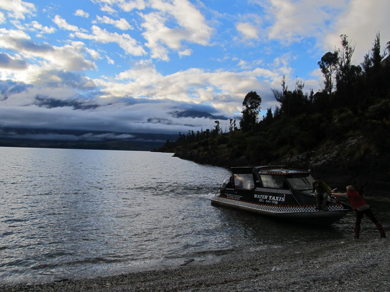 The water taxi at Refuge Point.