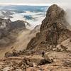 Below the named summit of Eyre Peak.