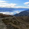 4Wheel Drive Track up Grandview Mountain with Lake Hawea in the back.