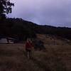 Leaving Kiwi Burn Hut at dawn.