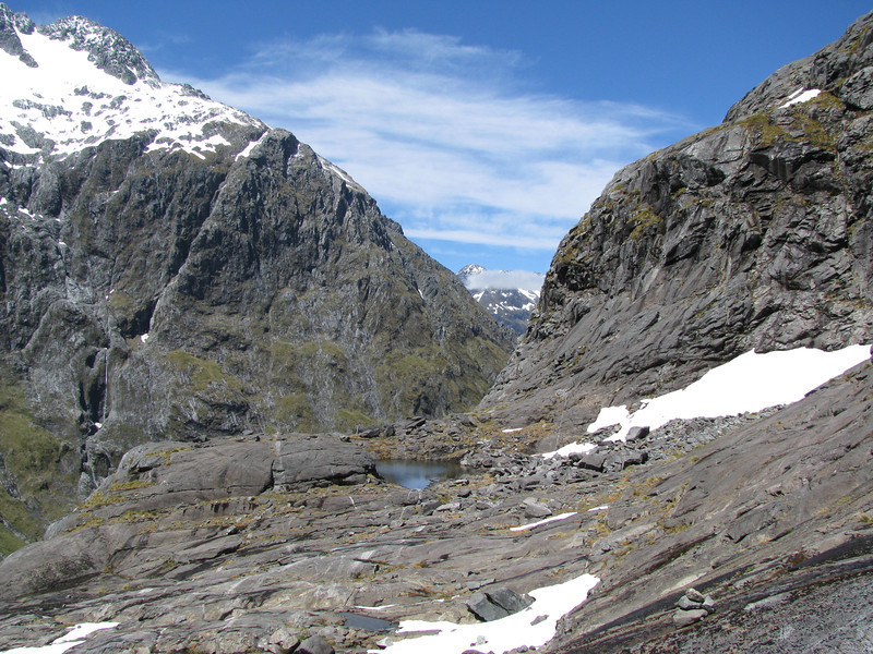 Slabs below Gertrude Saddle.