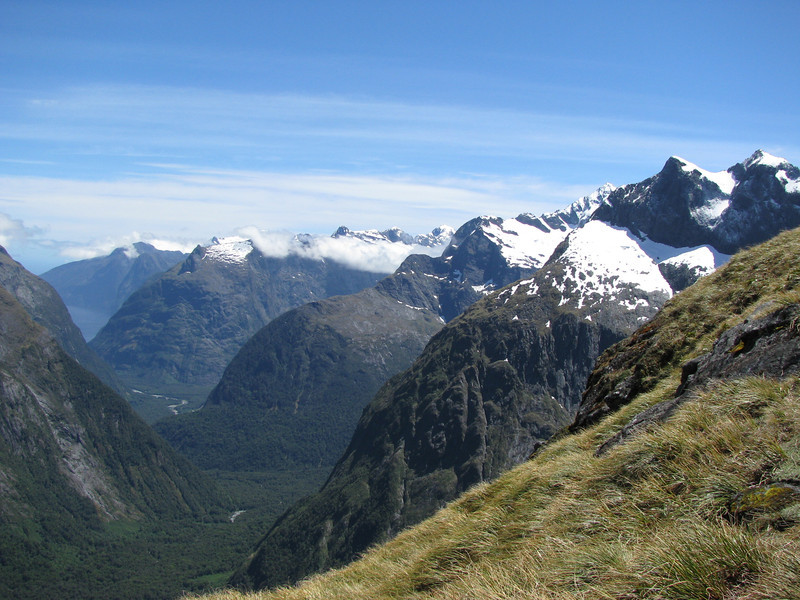 View towards Milford Sound from Barrier Knob.