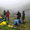 Back at base camp after an unsuccessful attempt to cross into the Dark, defeated by the weather.