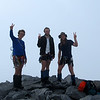 "The team on the summit of Barrier Peak (""very good'a'one.."")."