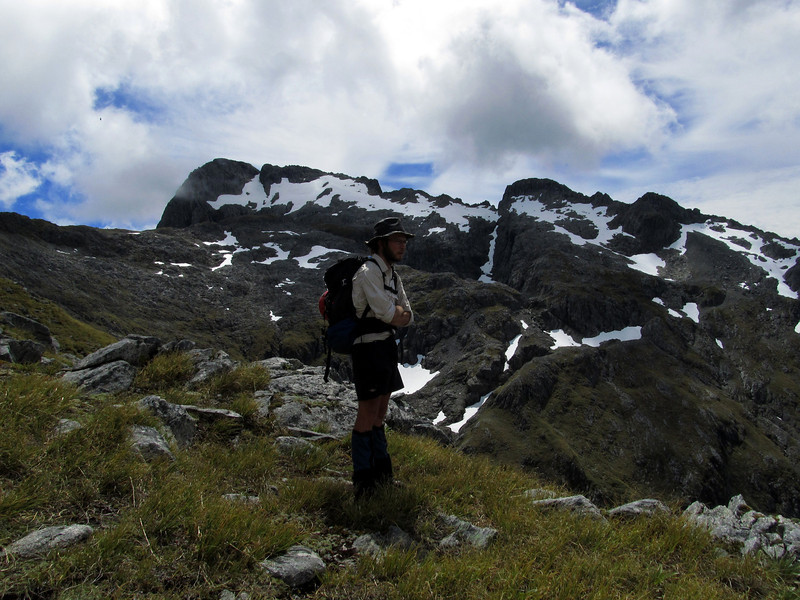 """On the way to Pt 1785 m (""""The Honeycracker"""")."""