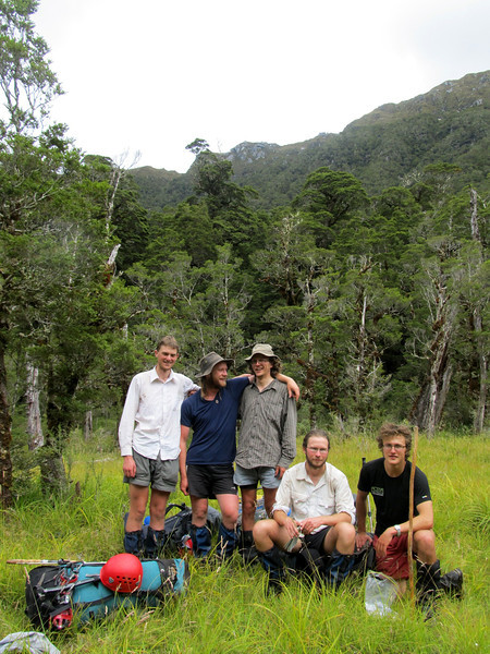 The team in Saints Creek: Tom, Max, George, James and Alexis (left to right).