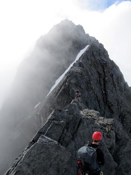 Summit ridge (east ridge) of Barrier Peak.