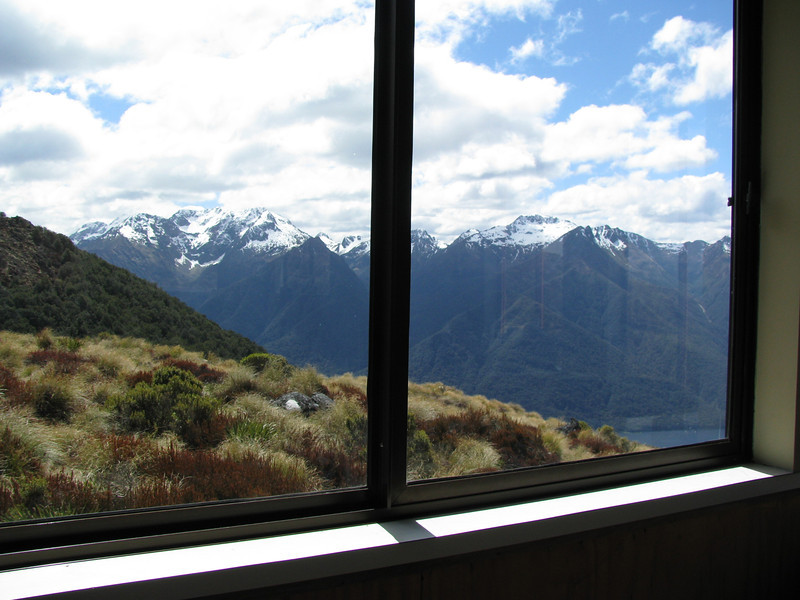 Murchison Mountains from Luxmore Hut.