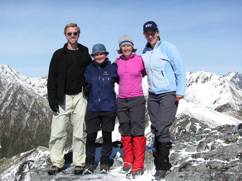 Team on Mt Luxmore.