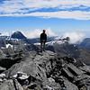 On the summit of Terror Peak.