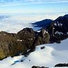 Mitre Peak ridge and Mt Pembroke from Llawrenny Peak.