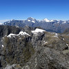 View of Mt Tutoko and Mt Madeline from the summit of Terror Peak.