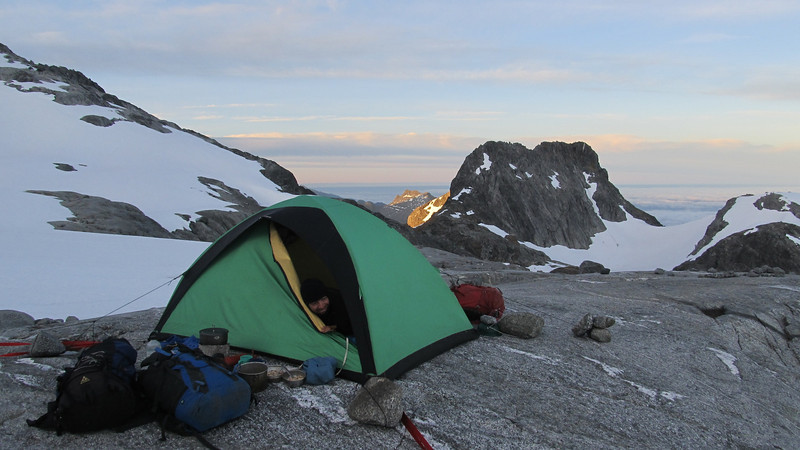 Camp early in the morning.