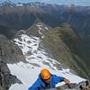 Climbing the south face of Terror Peak.